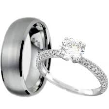 his and rings set his and hers classic wedding engagement rings set