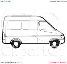 volkswagen van clipart van outline clip art 50