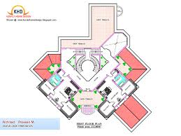 Luxurious Home Plans by Home Plan And Elevation 6544 Sq Ft Kerala House Design Idea