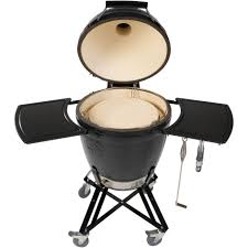 Backyard Grill Gas Charcoal Combination Grill by Primo Ceramic Charcoal All In One Kamado Grill Round Original