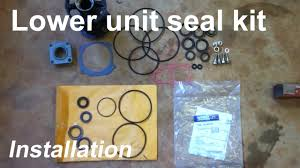 how to replace outboard lower unit seals youtube