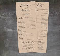 printing wedding programs printable wedding program rustic wedding programs unique wedding