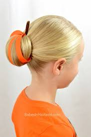 pumpkin bun halloween hairstyle in hairland