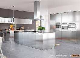 steel kitchen cabinet oppein modern simple design stainless steel kitchen cabinet buy