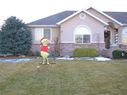 grinch yard decoration grinch christmas yard decorations excellent appearance lights