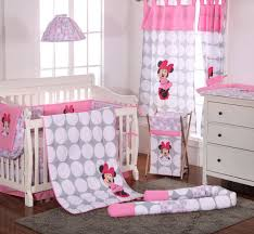 Minnie Crib Bedding Set Disney Baby Minnie Mouse Polka Dots Crib Bedding Set
