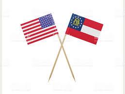 Georgia Flag Tiny American And Georgia Flag On A Toothpick Stock Photo Istock