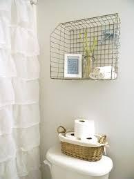 cottage shabby chic small bathroom decor storage basket ruffle