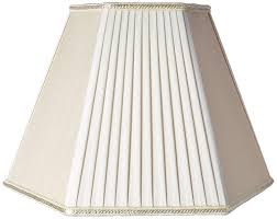 royal designs beige eggshell pleated hexagon designer lamp shade