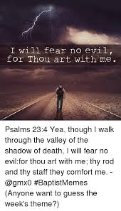 Thy Rod And Thy Staff Comfort Me I Will Fear No Evil For Thou Art With Me Psalms 234 Yea Though I