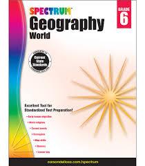 spectrum geography workbook grade 6 carson dellosa publishing