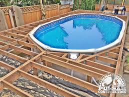 Backyard Deck Prices Outdoor Backyard Above Ground Pools Free Deck Plans For Above