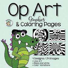 op art coloring pages coloring pages expressive monkey
