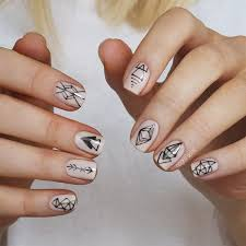 figuras geometricas uñas geometric henna tattoo nails nail art by nagelfuchs geometric