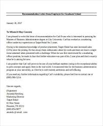 employer recommendation letter sample 9 examples in word pdf