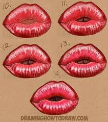 kissy kissy halloween how to draw kissy kissing puckering lips how to draw step