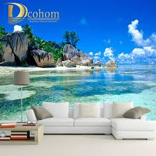 popular custom wall murals buy cheap custom wall murals lots from custom wall murals wallpaper for walls 3 d living room sofa tv background decor beach landscape