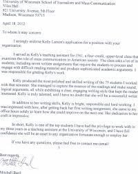 letter of recommendation u2013 kelly j larson