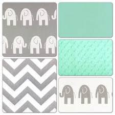 crib bedding set navy gray mint green by butterbeansboutique