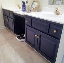 brown and blue bathroom ideas brown textured floor with navy blue blue vanity cabinet using gold