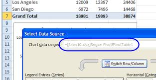Change Pivot Table Data Range Excel Pivot Chart Source Data