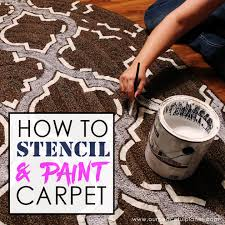 how to stencil u0026 paint carpet paint carpet large area rugs and