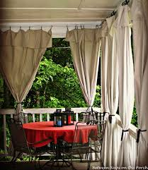 Curtains With Rings At Top Drop Cloth Curtains Add Privacy And Sun Control To Outdoor Spaces