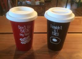 ceramic travel mug 16oz includes lid good morning beautiful