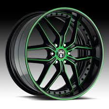 Green And Black Mustang 20in Rims Red And Black Fiero No 7 Wheels Gloss Black With