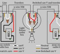 wiring diagram for 3 way switch with 2 wire cables from source in