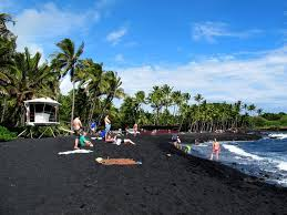 black sand beach big island punalu u black sand beach turtles on the big island hawaii