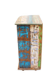 Esszimmer Schrank Shabby Vintage Kommode Barschrank Stahl Holz Massiv Designermöbel