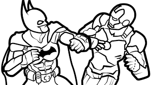 battle batman iron man coloring pages kids fun art coloring