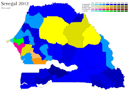 Election Map 2012 by Senegal 2012 World Elections