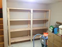 ana white 2 x 4 garage shelves built into basement storage