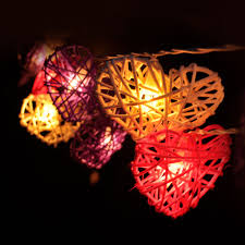 Red Heart Fairy Lights by Yellow U0026red U0026purple Rattan Balls String Lights Fairy Lamp Handmade
