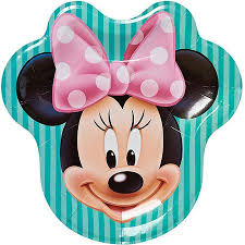 minnie mouse party supplies minnie mouse bow tique 9 die cut plates 8 count party supplies
