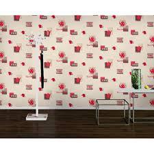 wallpaper borders coffee cups rasch teatime teapot coffee cup motif polka embossed vinyl kitchen