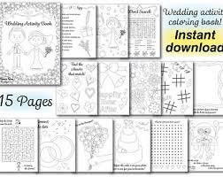 Printable Activity Book Printable Wedding Table Mat Kids Activity Placemat Wedding