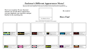Meme Name List - za s different appearances meme by zachmanawesomenessii on deviantart