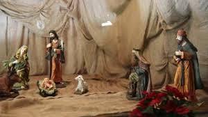 the birth of jesus scene inside the christmas tree stock video