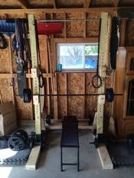 Diy Wood Squat Rack Plans by Diy Home Gym Power Rack Built With Lumber 4x4s 2x4s 6x2s And 3