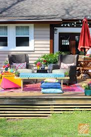 Diy Outdoor Rug With Fabric Diy Ideas For A Loud Laid Back Patio Makeover The Home Depot