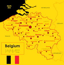 Map Of Germany Cities by Map Of Belgium And Its Major Cities