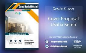 contoh desain proposal keren download template desain cover proposal usaha keren imago media