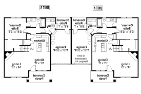 duplex house plans with garage in the middle 1st floor planduplex plans with garage in middle duplex rear