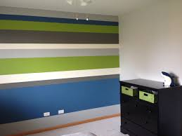 boys bedroom horizontal stripes accent wall bm stonington gray