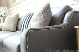 Grey Leather Reclining Sofa Leather Sofa Grey Leather Sofa With Nailhead Trim Reclining Sofa