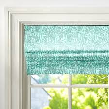 Roman Shade With Curtains Mini Dot Cordless Roman Shade With Blackout Lining Pbteen