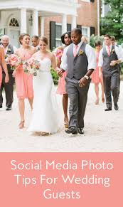 photo etiquette tips for wedding guests on instagram and social